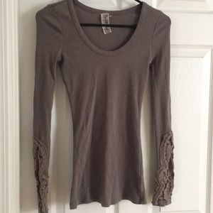 Free People Tops - Free People Mocha Crafty Cuff Thermal